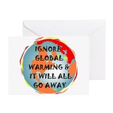GLOBAL WARMING WARNING Greeting Cards (Package of