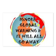 GLOBAL WARMING WARNING Postcards (Package of 8)