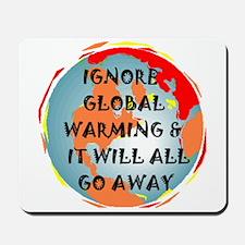 GLOBAL WARMING WARNING Mousepad
