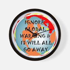 GLOBAL WARMING WARNING Wall Clock