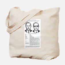 D.B. Cooper Wanted Poster Tote Bag