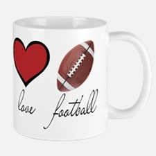 Peace Love Football Mug