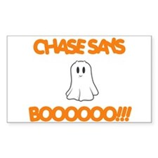 Chase Says Boo Rectangle Decal