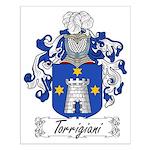 Torrigiani Family Crest Small Poster