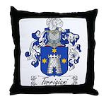 Torrigiani Family Crest Throw Pillow