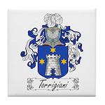 Torrigiani Family Crest Tile Coaster