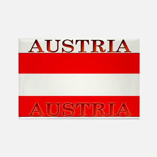 Austria Austrian Flag Rectangle Magnet