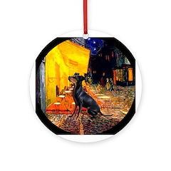Cafe & Manchester Terrier Keepsake (Round)