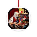 Santa's Manchester Terrier Keepsake (Round)