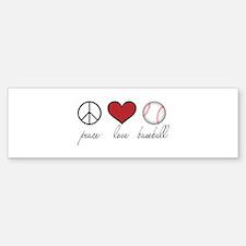 Peace Love Baseball Bumper Sticker (50 pk)