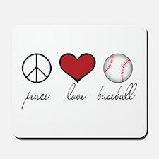 Peace Love Baseball Mousepad