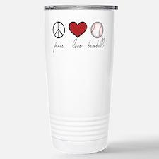 Peace Love Baseball Stainless Steel Travel Mug