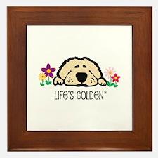 Life's Golden Spring Framed Tile