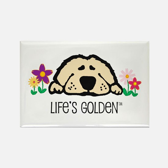 Life's Golden Spring Rectangle Magnet