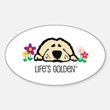 Life's Golden Spring Oval Stickers