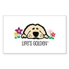 Life's Golden Spring Rectangle Decal