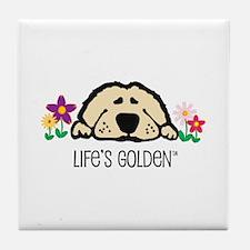Life's Golden Spring Tile Coaster
