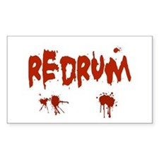 Bloody Redrum Rectangle Decal