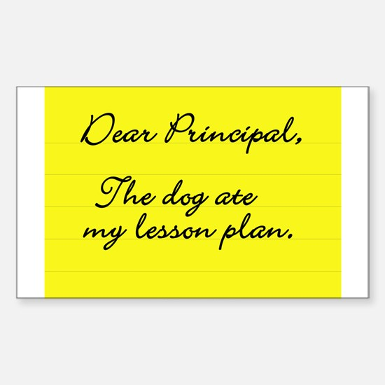 Lesson Plan Rectangle Decal