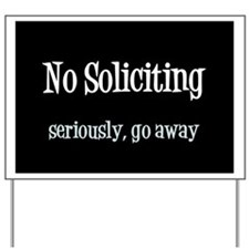 Funny Solicitors Yard Sign