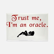 Trust the Oracle Rectangle Magnet