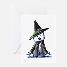 Witchy Westie Greeting Card