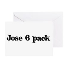 Jose 6 pack Greeting Card