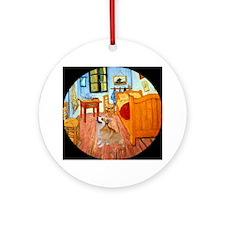 Van Gogh's Room + Corgi Keepsake (Round)