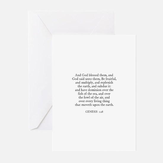 GENESIS  1:28 Greeting Cards (Pk of 10)