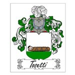 Tosetti Family Crest Small Poster