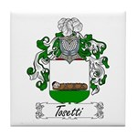 Tosetti Family Crest Tile Coaster
