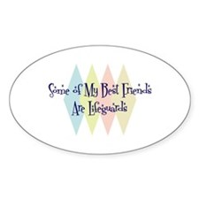 Lifeguards Friends Oval Decal