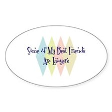Lawyers Friends Oval Decal