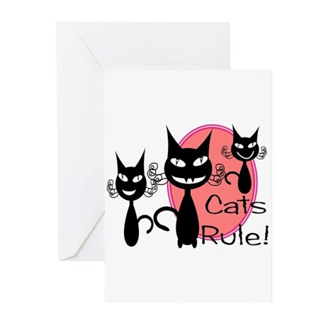 More cats Greeting Cards (Pk of 10)