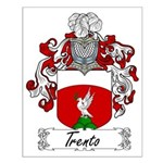 Trento Family Crest Small Poster
