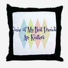 Knitters Friends Throw Pillow