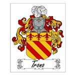 Trono Family Crest Small Poster