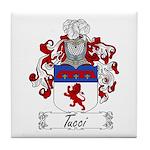 Tucci Family Crest Tile Coaster