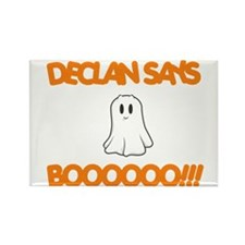 Declan Says Boo Rectangle Magnet