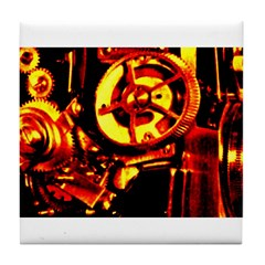 Red Hot Gears on Tile Coaster