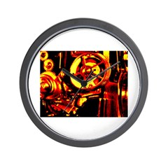 Red Hot Gears on Wall Clock