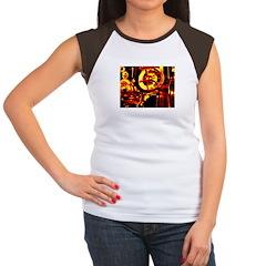 Red Hot Gears on Women's Cap Sleeve T-Shirt
