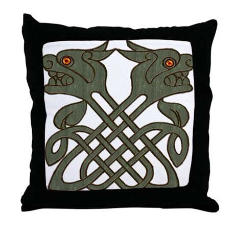 Weathered Brass Doss Throw Pillow