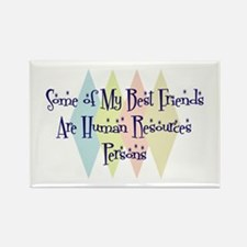 Human Resources Person Friends Rectangle Magnet (1