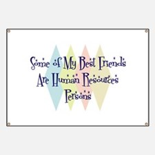 Human Resources Person Friends Banner