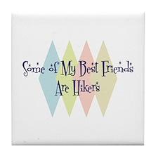 Hikers Friends Tile Coaster