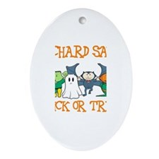 Richard Says Trick or Treat Oval Ornament