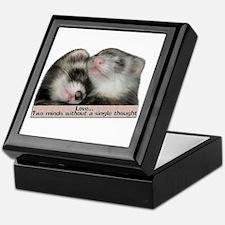 Love...Two Minds Keepsake Box