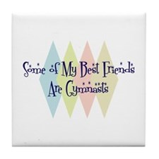 Gymnasts Friends Tile Coaster