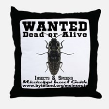 Mississippi Insect Guide Wanted Poster Throw Pillo